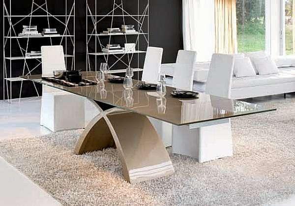 Стол TONIN CASA Tavoli e Sedie TOKYO - 6951FSV_glass